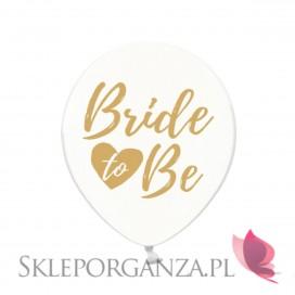 Balony KOLEKCJA Bride to be złoty nadruk