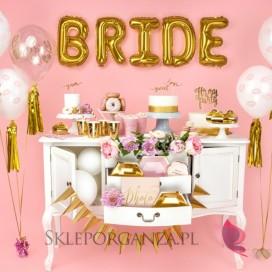 Balon KOLEKCJA Bride to be różowy nadruk