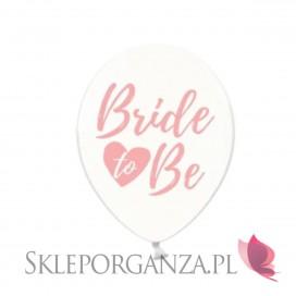 Balony KOLEKCJA Bride to be różowy nadruk