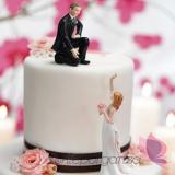 Porcelanowa figurka na tort - Pomożesz mi kochanie?