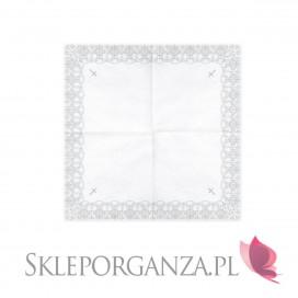 Serwetki Serwetki komunijne z ornamentem srebrnym