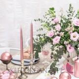 Rose Gold Świeczki stożkowe metaliczne, różowe złoto