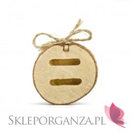 Rustykalny Podstawka na obrączki drewniana, 6cm