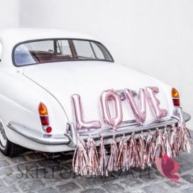 Zestawy do dekoracji auta Zestaw dekoracji samochodowych – LOVE różowe złoto