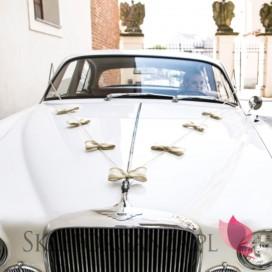 Zestawy do dekoracji auta Zestaw dekoracji samochodowych - Jutowe kokardki