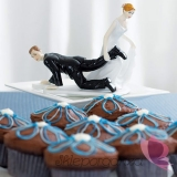 Figurki na tort Porcelanowa figurka na tort - Nie uciekniesz