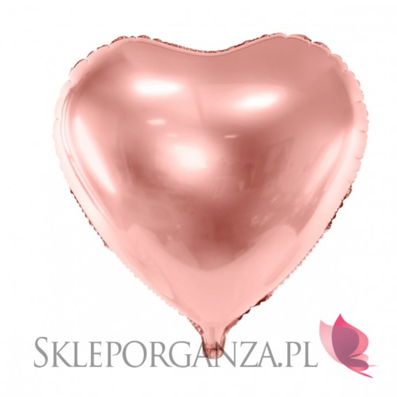 Rose Gold Balon foliowy serce rose gold 61cm