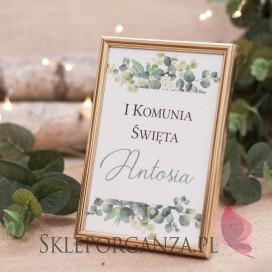 Znak Komunia – personalizacja KOLEKCJA EUKALIPTUS