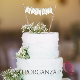 Kolekcja Eukaliptus Topper na tort – personalizacja KOLEKCJA EUKALIPTUS
