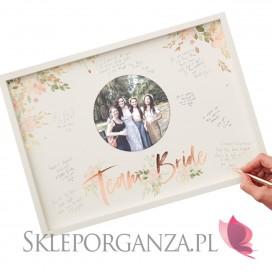 Kolekcja Team Bride Boho Rama księga gości Kolekcja TEAM BRIDE BOHO - Wieczór Panieński