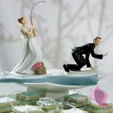 Porcelanowa figurka na tort - Złowiony na wędkę