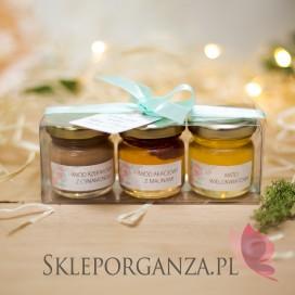 Świąteczny zestaw upominkowy miód - KOLEKCJA AKWARELE PEONIA
