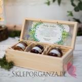 Zestaw miodów w szkatułce - mały - personalizacja WOODLAND