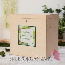 Drewniana skrzynka na koperty - personalizacja WOODLAND