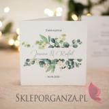 Zaproszenie - personalizacja kolekcja ślubna EUKALIPTUS