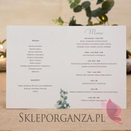 KOLEKCJA EUKALIPTUS na ślub Menu - personalizacja kolekcja ślubna EUKALIPTUS