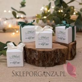Pudełko kostka biała – personalizacja kolekcja ślubna EUKALIPTUS
