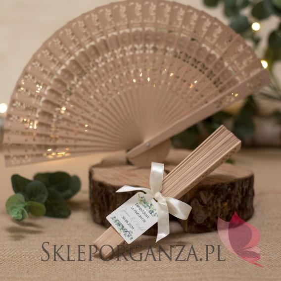 Personalizowane wachlarze na wesele Wachlarz drewniany - personalizacja kolekcja ślubna EUKALIPTUS