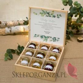 Zestaw miodów duży – personalizacja kolekcja ślubna EUKALIPTUS