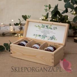 Zestaw miodów mały – personalizacja kolekcja ślubna EUKALIPTUS