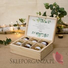 Zestaw miodów – średni – personalizacja kolekcja ślubna EUKALIPTUS
