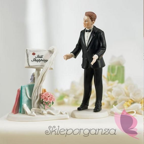 Figurki na tort Porcelanowa figurka na tort - Na zakupach