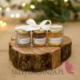 Zestaw upominkowy miód - personalizacja kolekcja ślubna EUKALIPTUS