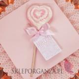 Różowy Lizak serce różowe- personalizacja- kolekcja LOVE