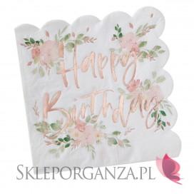 Serwetki urodzinowe Serwetki Happy Birthday KOLEKCJA BOHO