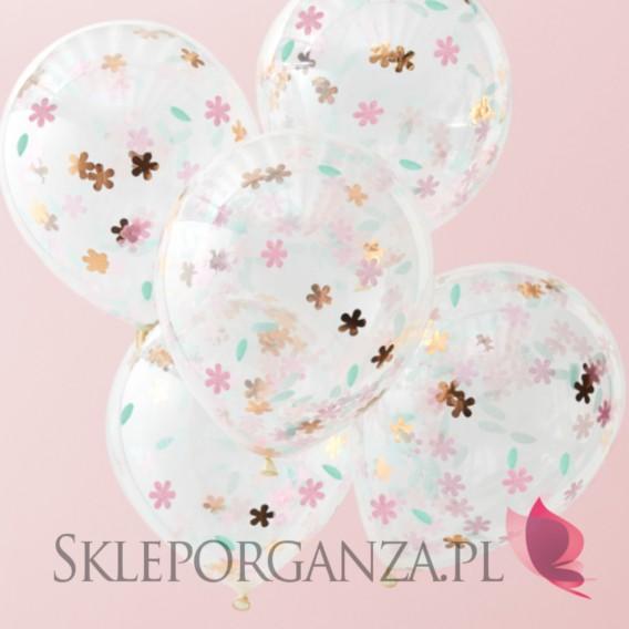 Balony z konfetti na wesele Balony z konfetti KOLEKCJA FLORAL