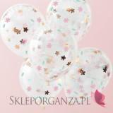 Balony z konfetti KOLEKCJA FLORAL