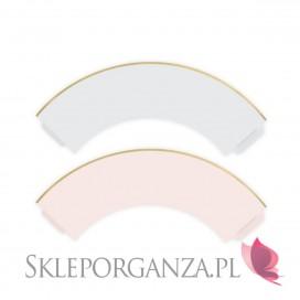 Foremki i papilotki Papilotki na muffinki j. róż/szary, (złote brzegi), 6 szt.