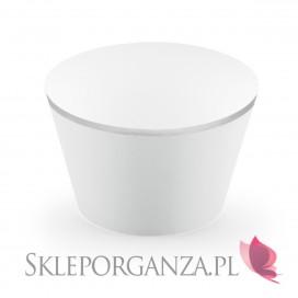 Foremki i Papilotki Papilotki na muffinki jasnoszare, (srebrne brzegi), 6 szt.