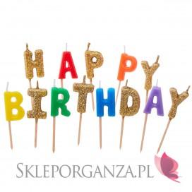 Fontanny i świeczki Świeczki na tort HAPPY BIRTHDAY!