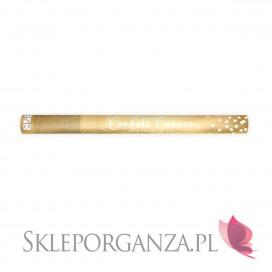 Złoty MEGA tuba strzelająca złotymi sercami 60cm