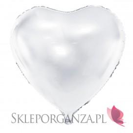 Biały Balon foliowy białe Serce 61cm
