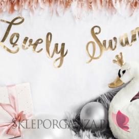 Kolekcja Łabędź na Baby Shower Baner Lovely Swan KOLEKCJA ŁABĘDŹ