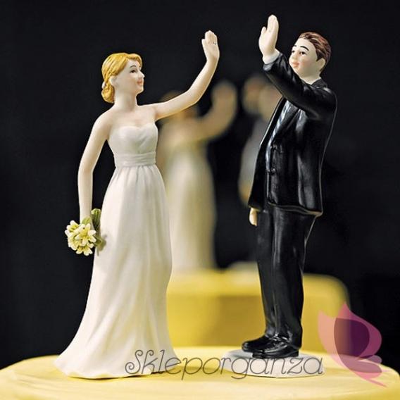 Porcelanowa figurka na tort - Para na piątkę