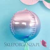 Balon foliowy Kula OMBRE, fioletowo-niebieski 35cm