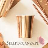 Rose Gold Kubeczki metaliczne różowe złoto