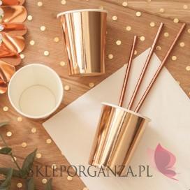 Kubeczki metaliczne różowe złoto