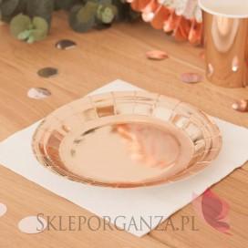 Talerzyki okrągłe - różowe złoto