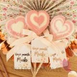 Lizak serce różowe - personalizacja kolekcja TEAM BRIDE