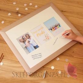 Pamiątkowa Rama na zdjęcia z Wieczoru Panieńskiego - personalizacja kolekcja TEAM BRIDE