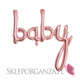 Balony Balon foliowy Baby ROSE GOLD