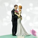 Porcelanowa figurka na tort - Romantyczna para