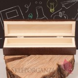 Dzień nauczyciela - Koniec Roku Drewniane pudełko na długopis z grawerem - Dzień Nauczyciela