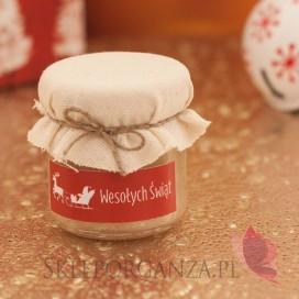 Świąteczny miód z wanilią - personalizacja z dekoracją wieczka