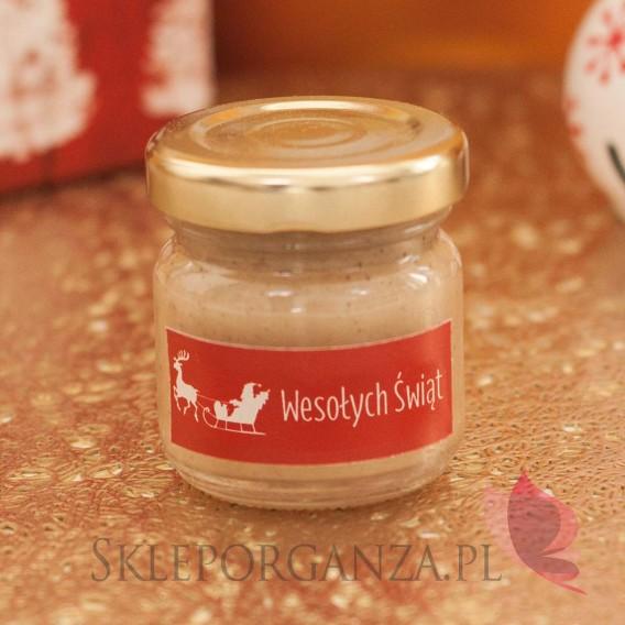 Upominki świąteczne Upominek świąteczny – miód z wanilią - personalizacja