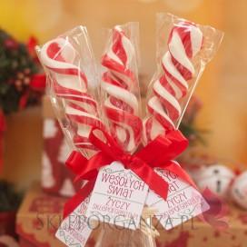 Upominki świąteczne Lizak świderek czerwony duży - personalizacja - ŚWIĘTA